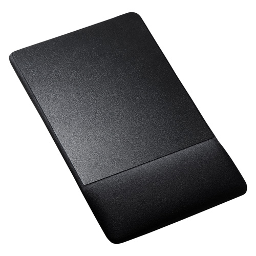 リストレスト付きマウスパッド(布素材、高さ18.5mm、ブラック)