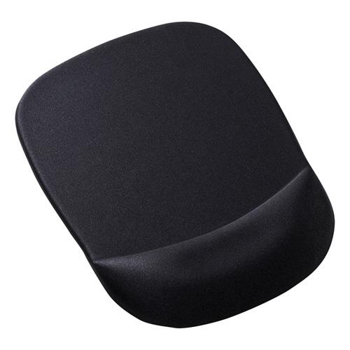 【期間限定価格】低反発リストレスト付きマウスパッド(ブラック)