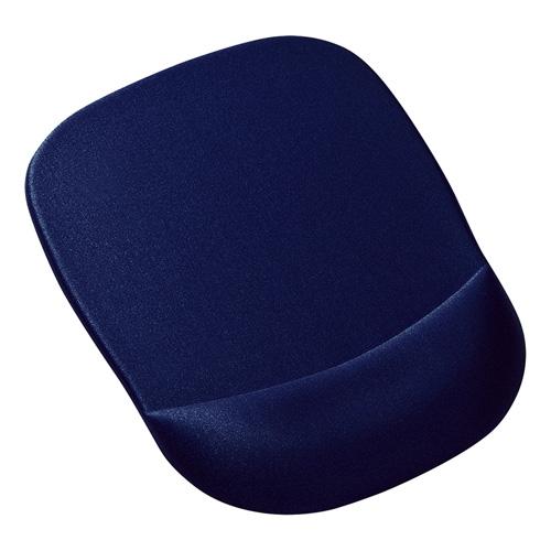 低反発リストレスト付きマウスパッド(ブルー)