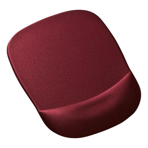 低反発リストレスト付きマウスパッド(ワインレッド)