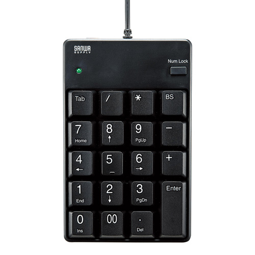 USBテンキー(ブラック・メンブレン)