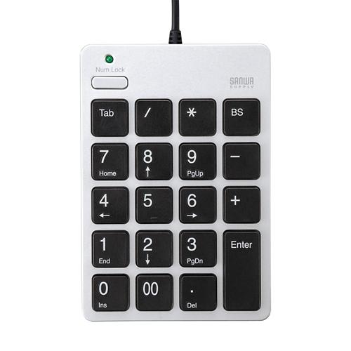 【期間限定価格】USBテンキー(シルバー)