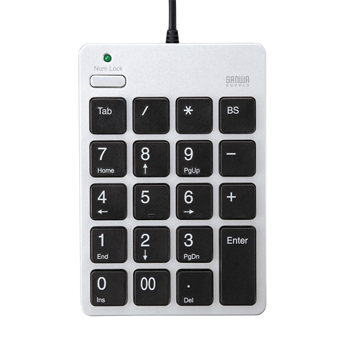 USBテンキー(シルバー)
