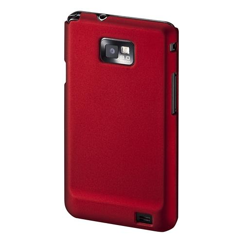 【クリックでお店のこの商品のページへ】【わけあり在庫処分】 ラバーコーティングハードケース(NTTドコモ GALAXY S II 用・レッド) PDA-GA3R