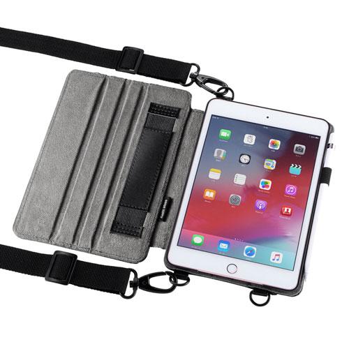 iPad mini 2019 ケース(ショルダーベルトケース・スタンド・ハンドベルト・ペンホルダー付き)