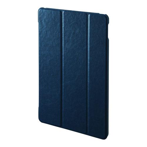 iPad 10.2インチ ソフトレザーケース ブルー