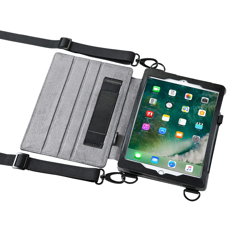 ショルダーベルトケース (iPad Pro9.7 / iPad Air2対応・スタンド機能) サンワダイレクト サンワサプライ PDA-IPAD912