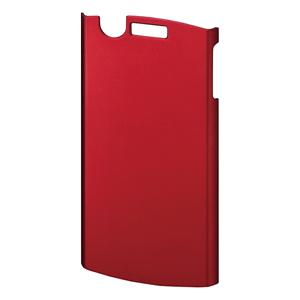 【クリックでお店のこの商品のページへ】【わけあり在庫処分】 ラバーコーティングハードカバー(MEDIAS用・保護フィルム付き・レッド) PDA-ME1R