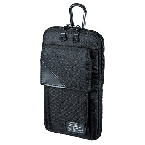 【期間限定価格】スキミング防止ポケット付きマルチガジェットケース(L・ブラック)