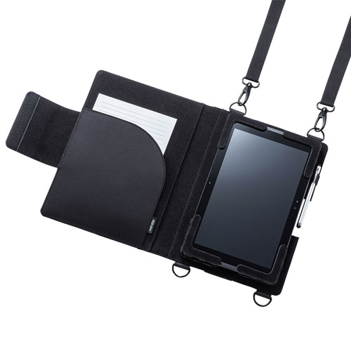 ショルダーベルト付き10.1型タブレットPCケース (背面カメラ対応)
