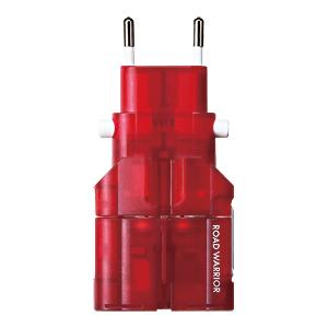 サンワダイレクト電源プラグ変換アダプタ ゴーコンW2 レッド