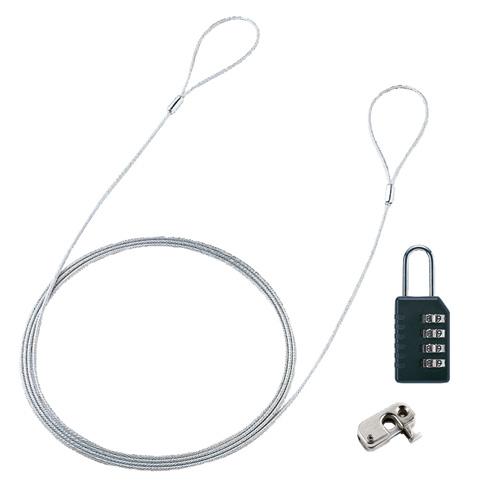 パソコンセキュリティワイヤーロック(ダイヤル錠タイプ)
