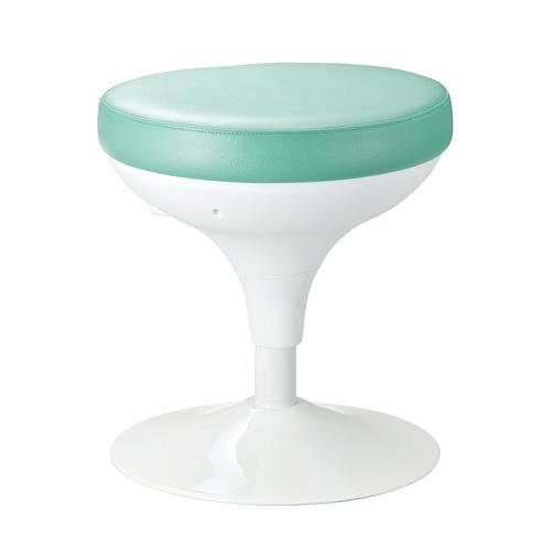 メディカルスツール(丸椅子タイプ・上下昇降・グリーン)
