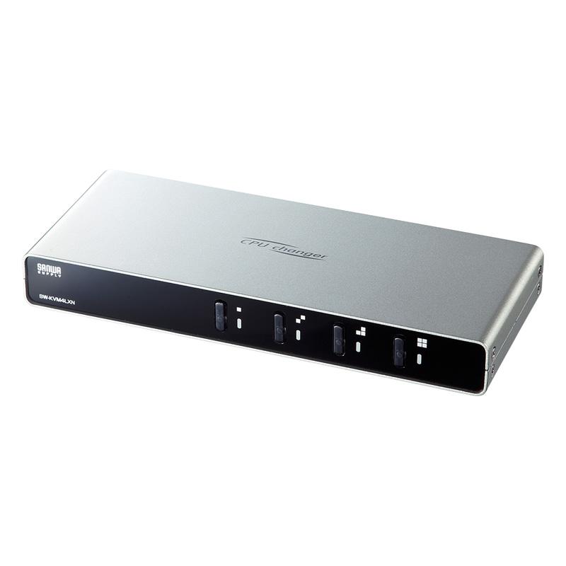 パソコン自動切替器(4:1)(PS/2・USB) サンワダイレクト サンワサプライ SW-KVM4LXN
