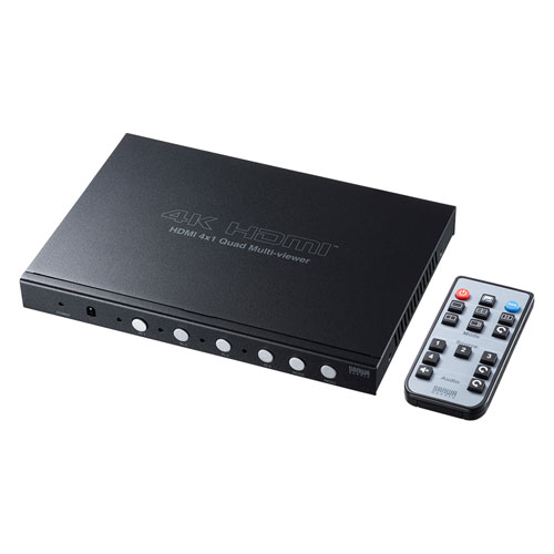 4入力1出力HDMI画面分割切替器(4K対応)