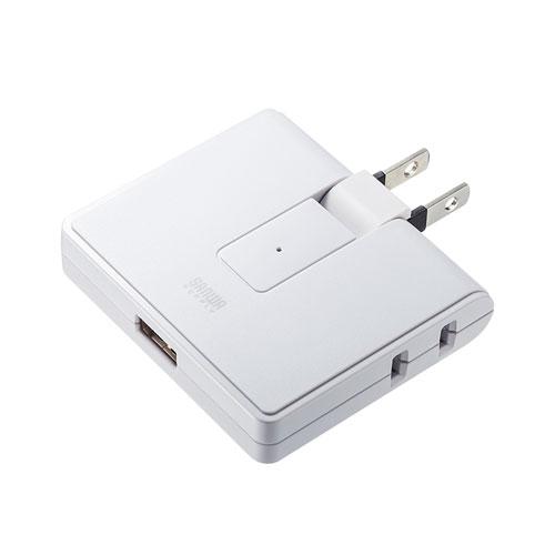 USB充電ポート付き電源タップ(2P・2個口・USB1ポート)