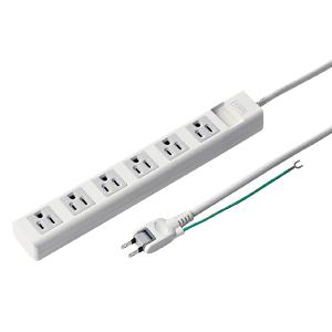【期間限定価格】電源タップ(3P・6個口・5m)