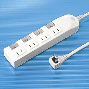 【クリックでお店のこの商品のページへ】節電タップ(2P・4個口・3m・省エネ・個別スイッチ付) TAP-S1-3