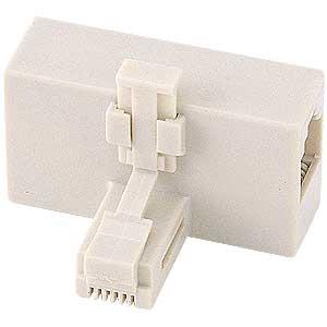 テレフォン分配アダプタ(T型・アイボリー) TEL-AD2T