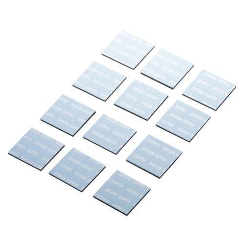 ノートパソコン冷却パット(17mm・角型・12枚入り・ブルー)