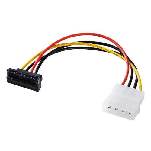 シリアルATA用電源変換ケーブル 下L型コネクタ(12cm)