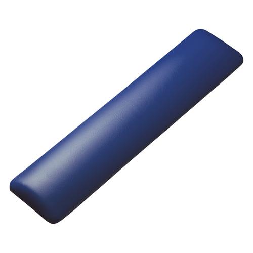 【わけあり在庫処分】キーボード用リストレスト(レザー調素材、ブルー)