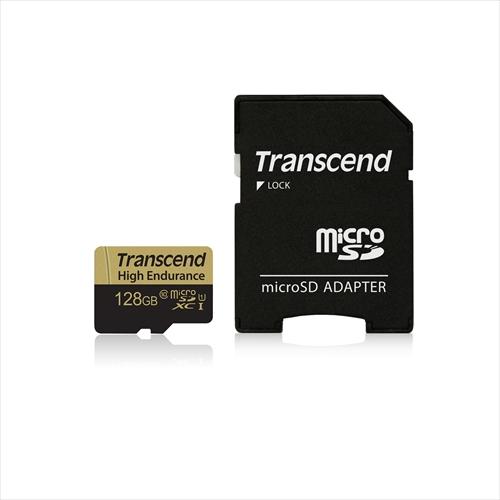 Transcend microSDXCカード 128GB Class10 高耐久 ドライブレコーダー向け SDカード変換アダプタ付 TS128GUSDXC10V