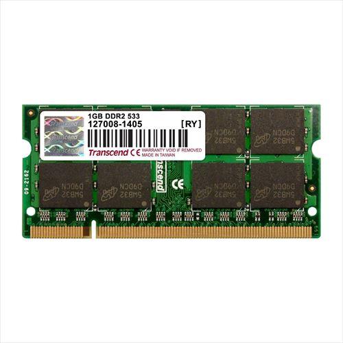 Transcend ノートPC用増設メモリ 1GB DDR2-533 PC2-4200 SO-DIMM TS128MSQ64V5J