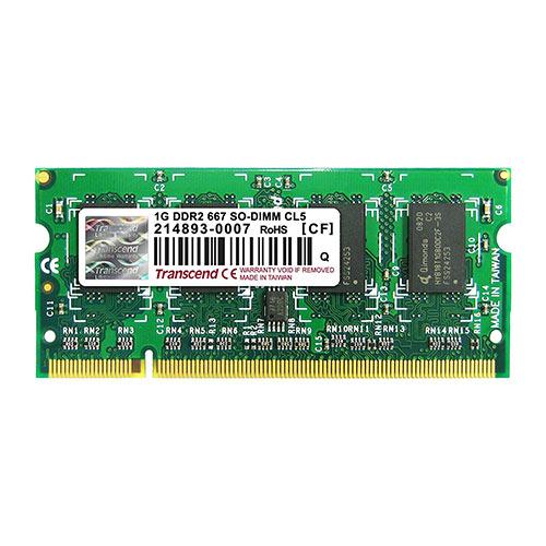 Transcend ノートPC用増設メモリ 1GB DDR2-667 PC2-5300 SO-DIMM TS128MSQ64V6U
