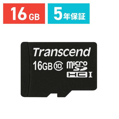 Transcend microSDHCカード 16GB class10 TS16GUSDC10