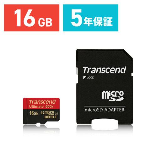 Transcend microSDHCカード 16GB Class10 UHS-I対応 SDカード変換アダプタ付 Ultimate TS16GUSDHC10U1
