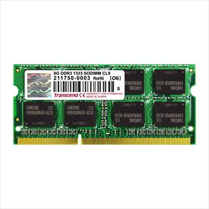 Transcend ノートPC用増設メモリ 8GB DDR3-1333 PC3-10600 SO-DIMM TS1GSK64V3H