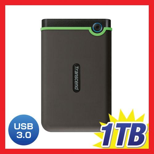Transcend 1TB StoreJet 25M3 外付けハードディスク TS1TSJ25M3(USB3.0対応・マルチカラーLEDインジケーター付き)