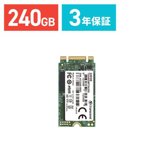 Transcend 3D TLC NAND採用 SSD 240GB M.2  SATA-III 6Gb/s TS240GMTS420S