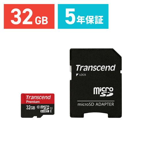 Transcend microSDHCカード 32GB Class10 UHS-1対応 400x SDカード変換アダプタ付 TS32GUSDU1
