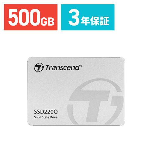 Transcend 500GB 2.5インチ SATAIII SSD TS500GSSD220Q