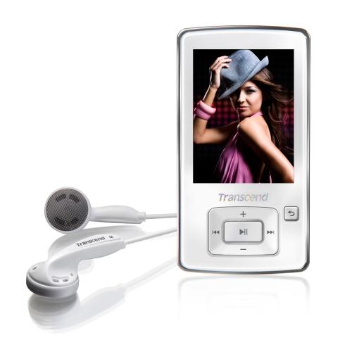 【クリックでお店のこの商品のページへ】Transcend MP3プレーヤー T.sonic 870 8GB(TS8GMP870W・FMラジオ搭載・ホワイト) TS8GMP870W