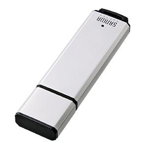【クリックで詳細表示】USB2.0フラッシュディスク(シルバー) UFD-A128M2SV