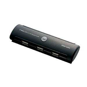 【クリックでお店のこの商品のページへ】USB2.0ハブ(7ポート・ACアダプタ付・ブラック) USB-HUB223BK