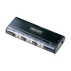 【期間限定価格】USB2.0ハブ(4ポート・ACアダプタ付・ブラック)