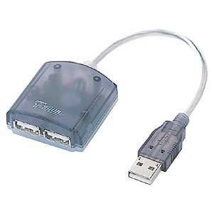 【クリックで詳細表示】コンパクトUSBハブ(2ポート・グラファイト/アイス) USB-HUBN12GPH