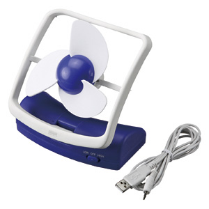 【クリックでお店のこの商品のページへ】USB扇風機(節電・大型ファン) USB-TOY43