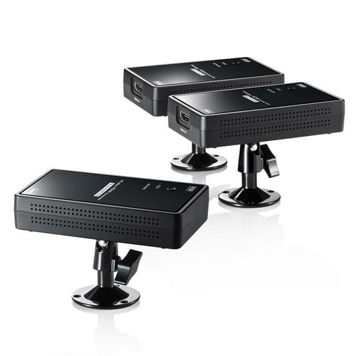 【期間限定価格】ワイヤレスHDMIエクステンダー(2分配・送信機×1・受信機×2・最大通信距離30m)